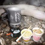 釣りの湯沸かし「カップラーメンのお湯なら」JETBOILが最高